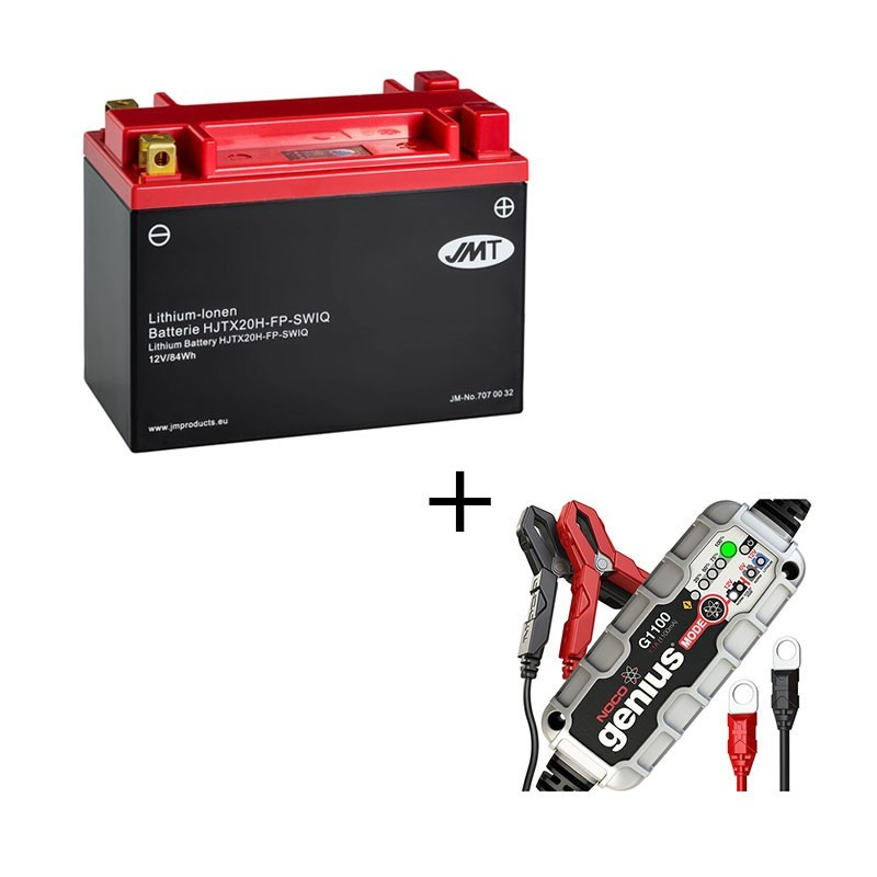 Conjunto bateria de litio JMT HJTX20H-FP  y Cargador litio 1.1Ah