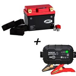 Batería de Litio HJTZ7S-FP + Cargador NOCO G5 Litio