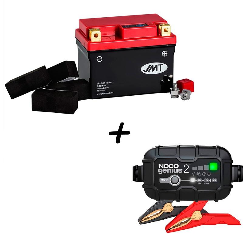 Batería de Litio HJTZ7S-FP + Cargador NOCO G2 Litio