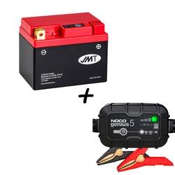 Bateria de litio HJTX5L-FP + Cargador GENIUS5 Litio