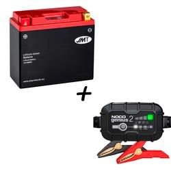 Bateria de litio  HJT12B-FP + Cargador GENIUS2 Litio