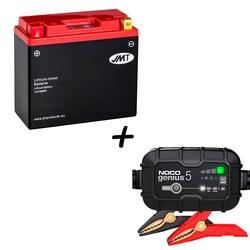 Bateria de litio  HJT12B-FP + Cargador GENIUS5 Litio