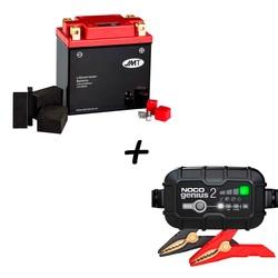 Bateria de litio HJTX14AH-FP + Cargador GENIUS2 Litio