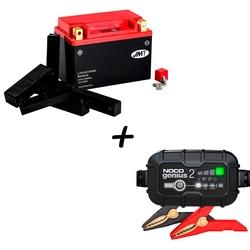 Bateria de litio HJTX20CH-FP + Cargador GENIUS2 Litio