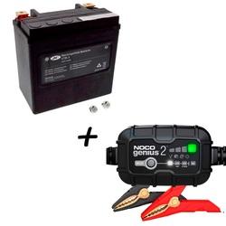 Bateria JMT VTB-3 65958-04A-B 66000208 AGM + Cargador GENIUS2 Litio